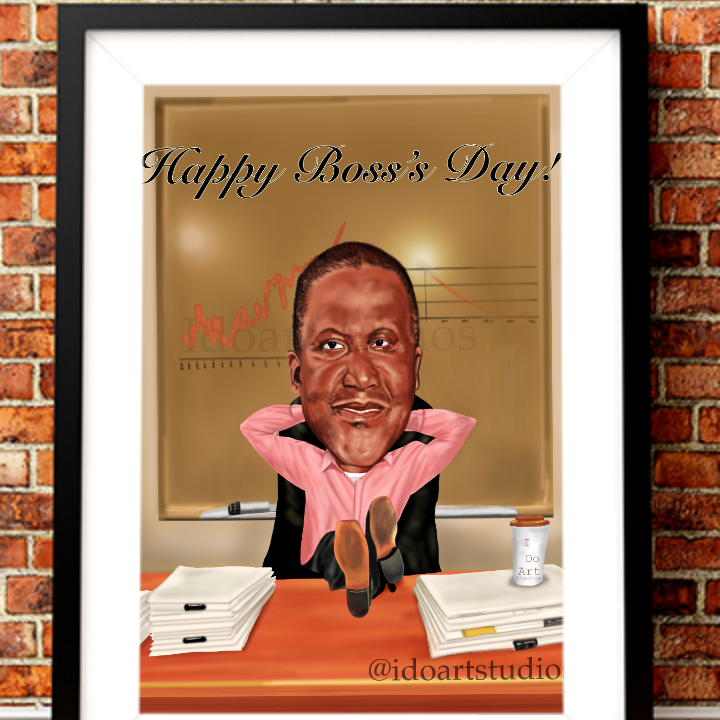 This is a boss caricature sample, good for office use