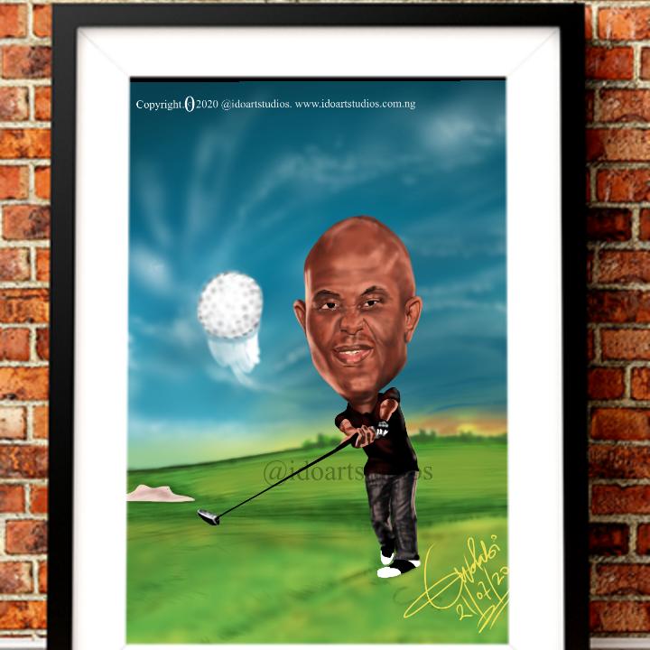 Tony Elumelu Sporty Caricature Sample